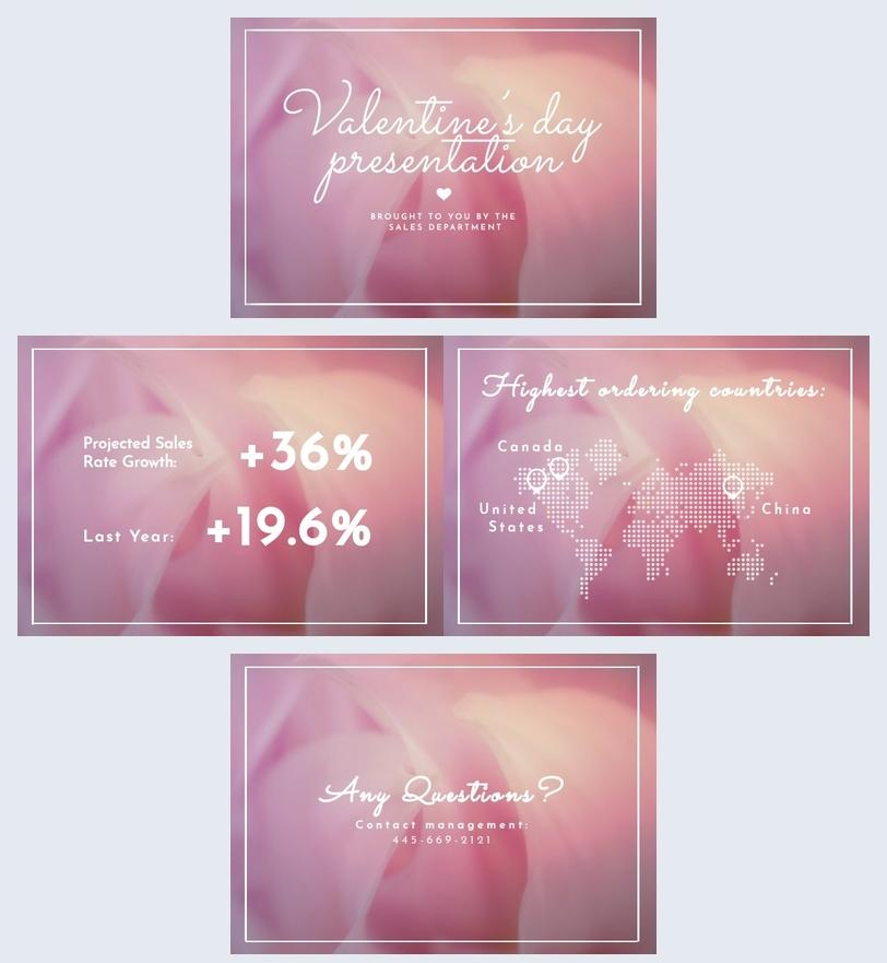 Modello per presentazione di San Valentino