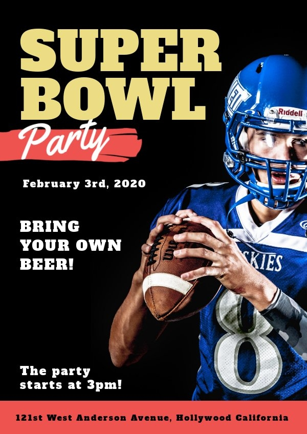 Super Bowl Feestuitnodiging Sjabloon