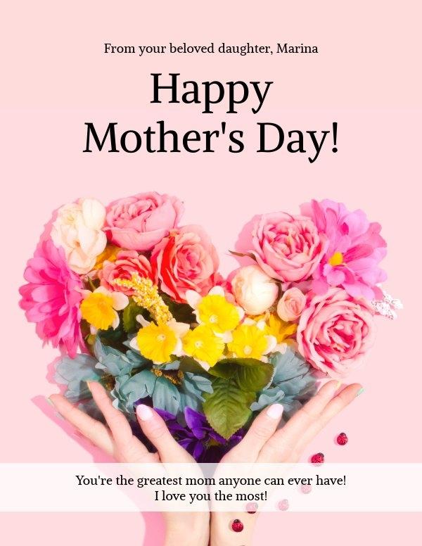 Plantilla para tarjeta del Día de las madres