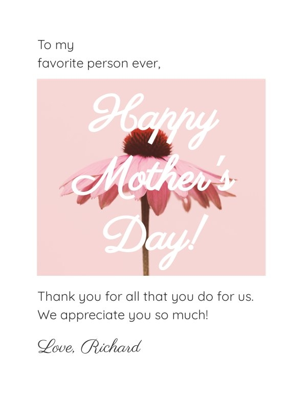 Mother's Day Card Template