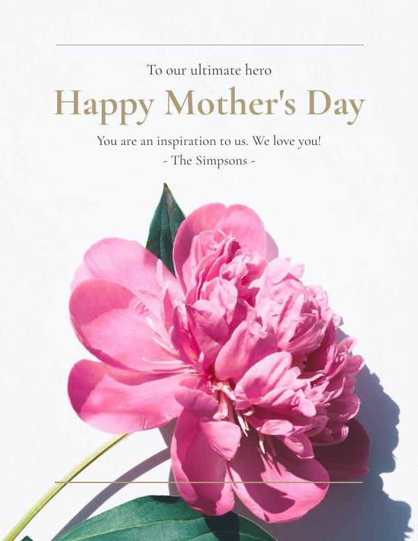 Modelo de Cartão do Dia das Mães