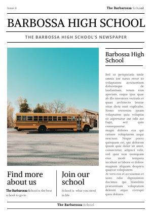 20 Customizable School Newspaper Templates Flipsnack