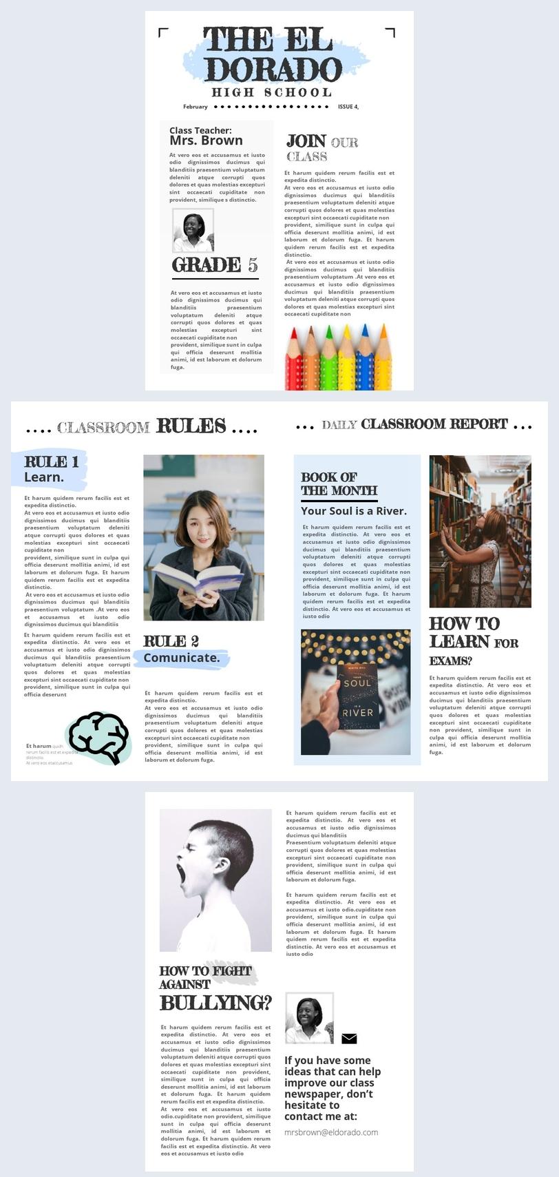 Modello per giornale di classe