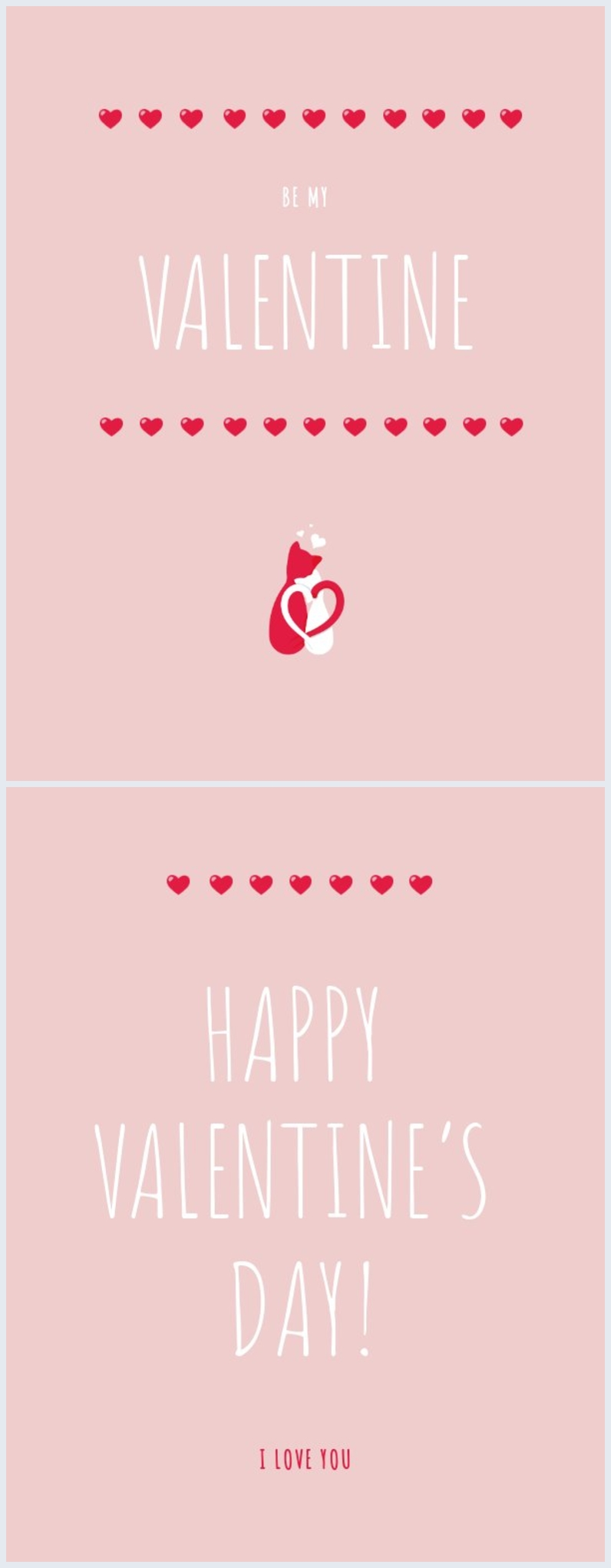 Valentine's Day Card Template