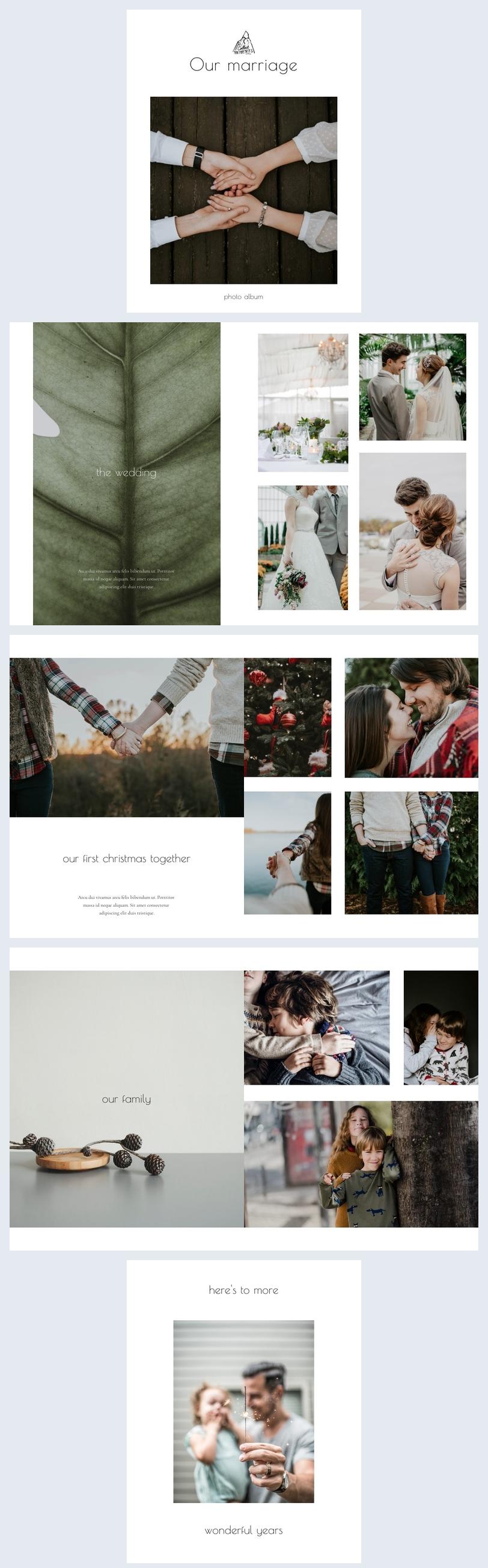 Hochzeitsfoto-Album Designvorlage