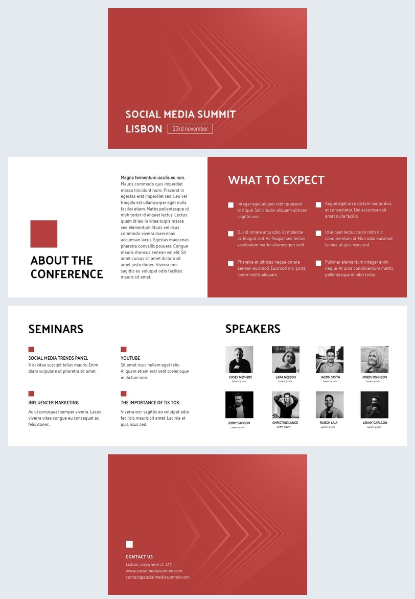 Gestaltung der Konferenzpräsentation