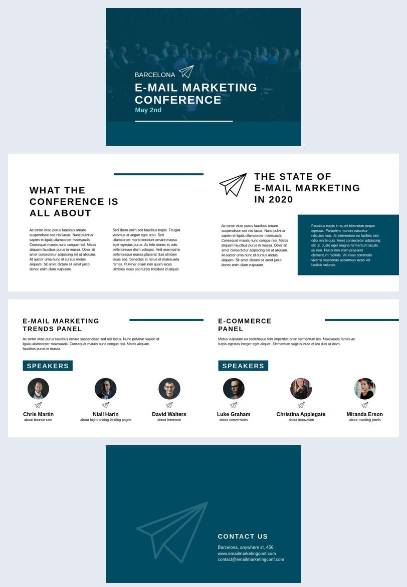Modello gratuito per presentazione da conferenza sull'email marketing