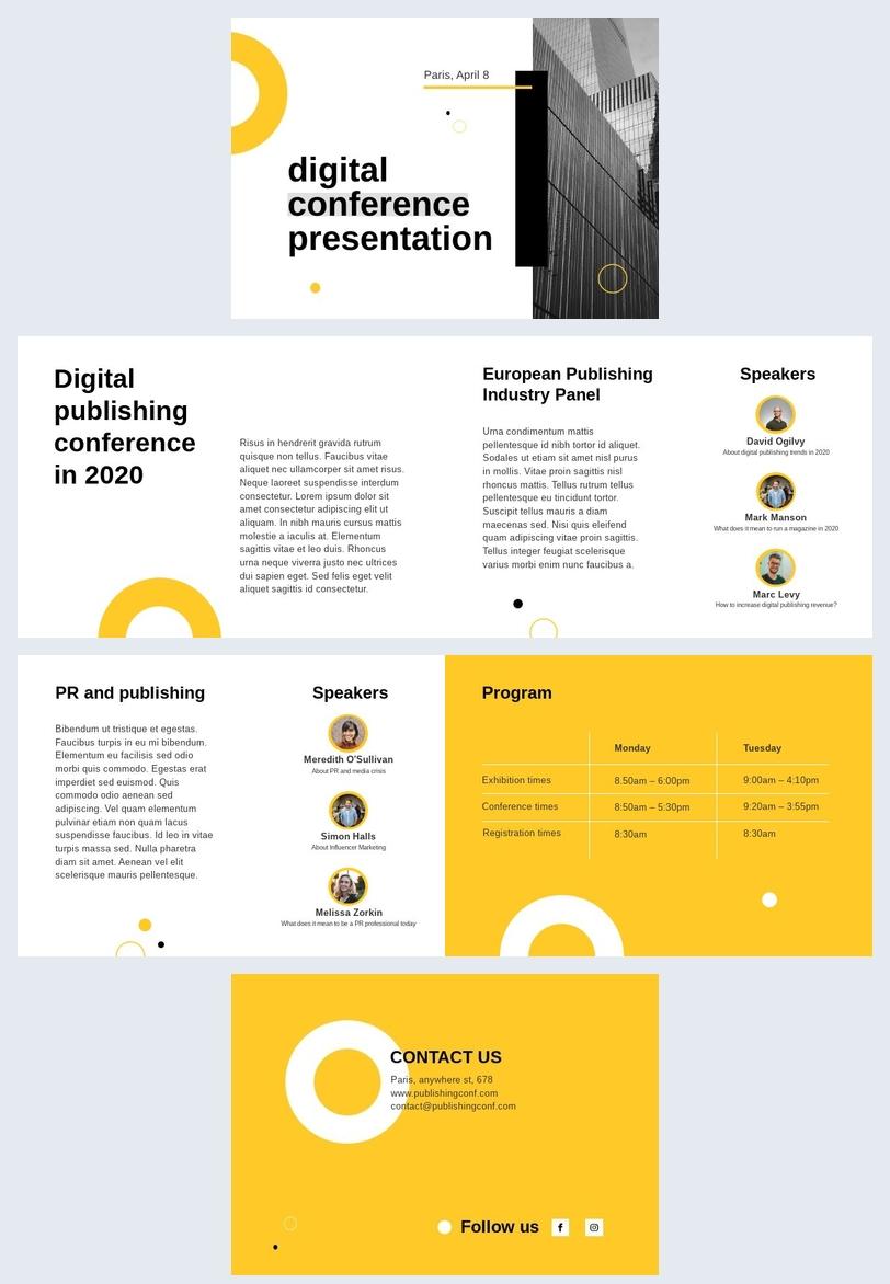 Präsentationsvorlage für digitale Marketing-Konferenz