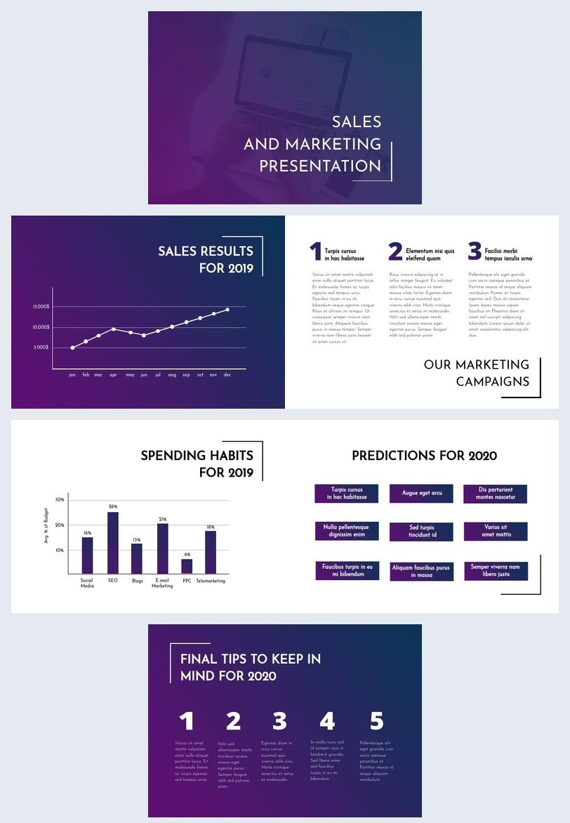 Modèle de présentation marketing de vente
