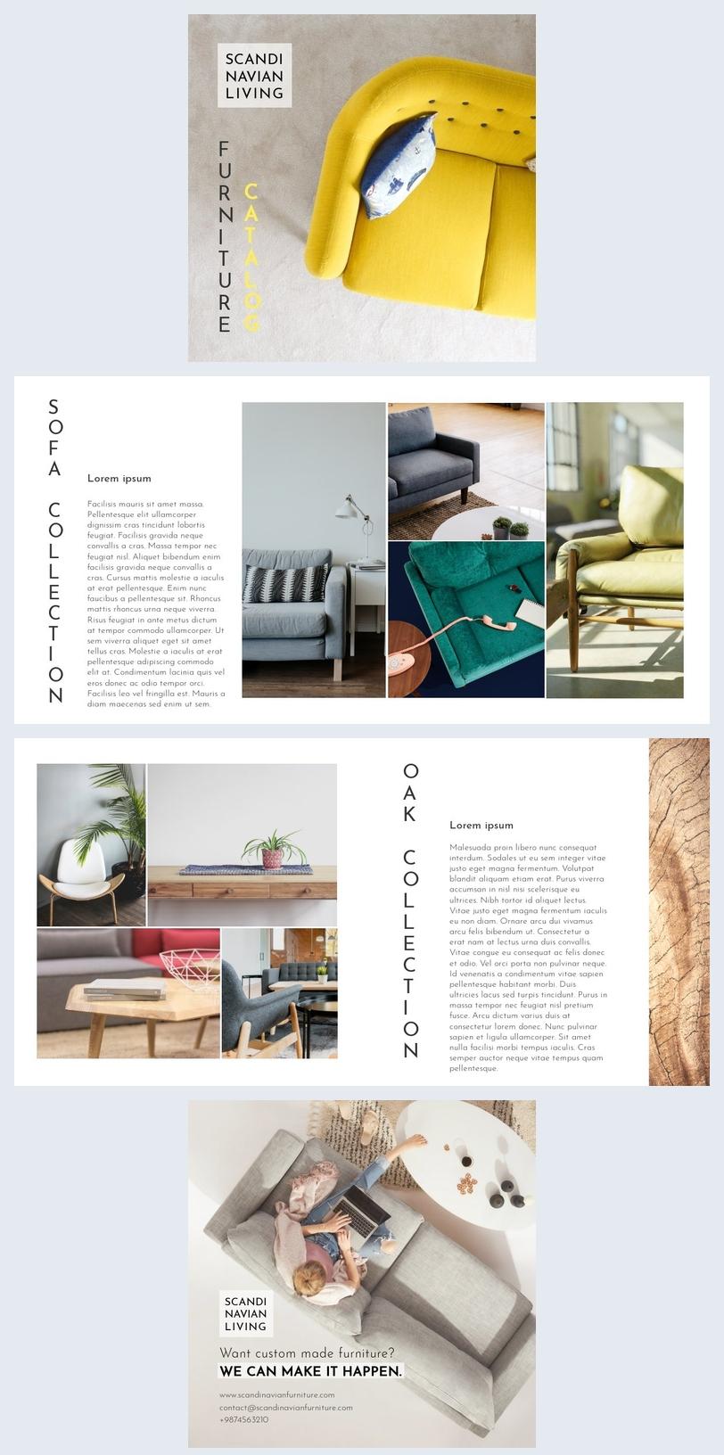Modello elegante per catalogo di mobili
