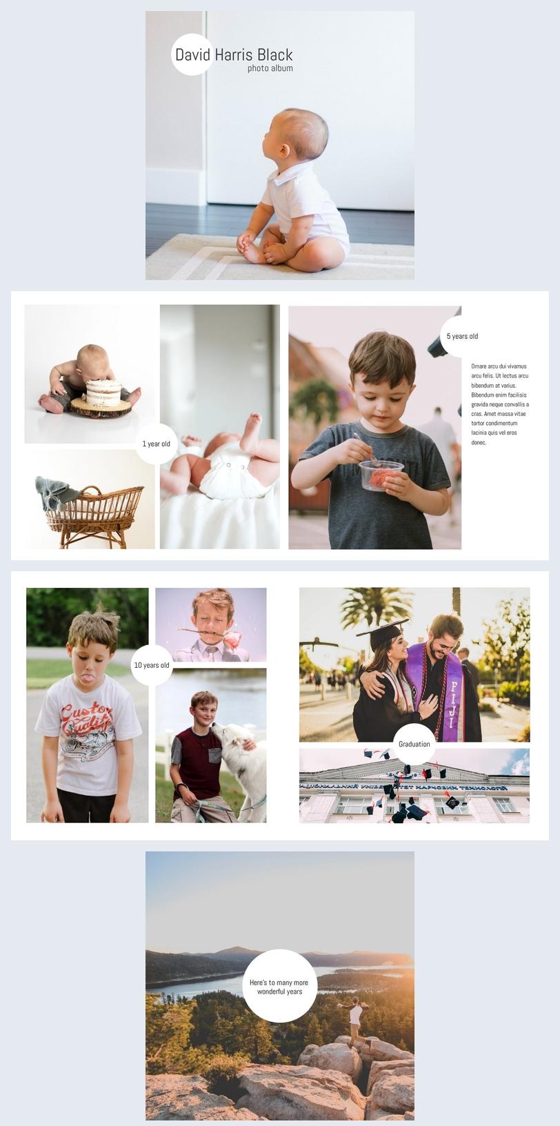 Fotoalbum für Jungen