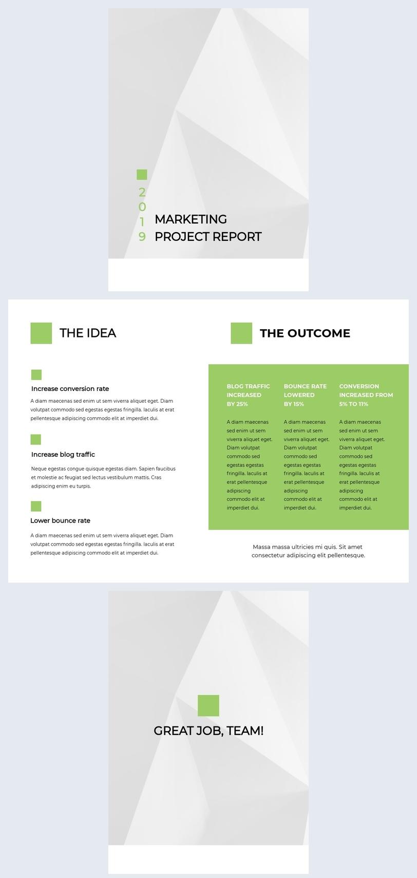 Modèle de rapport de projet