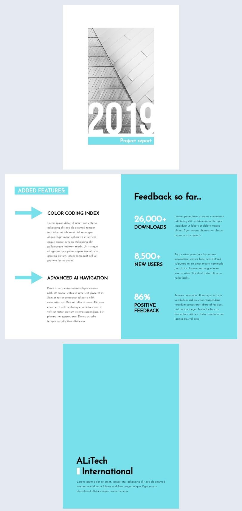 Modello per report progettuale