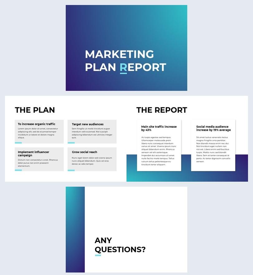 Modello per report del piano marketing