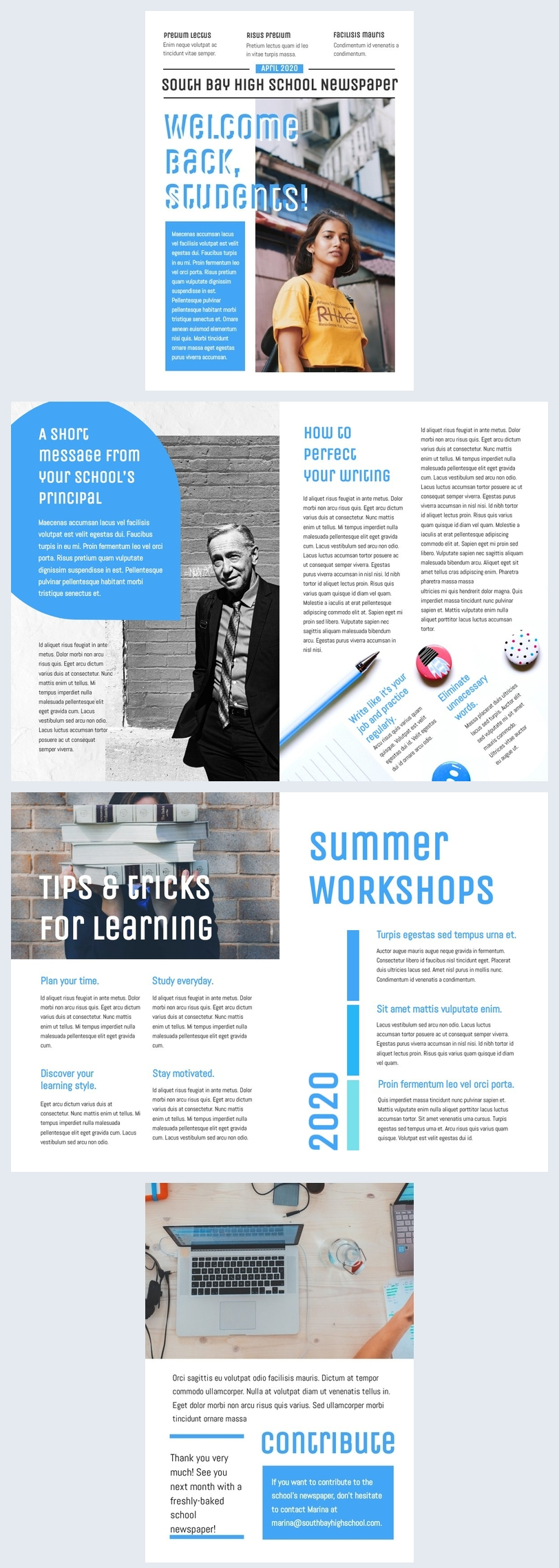 Free School Newspaper Template