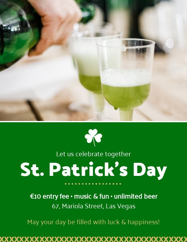 Printable St Patrick's Day Flyer Template