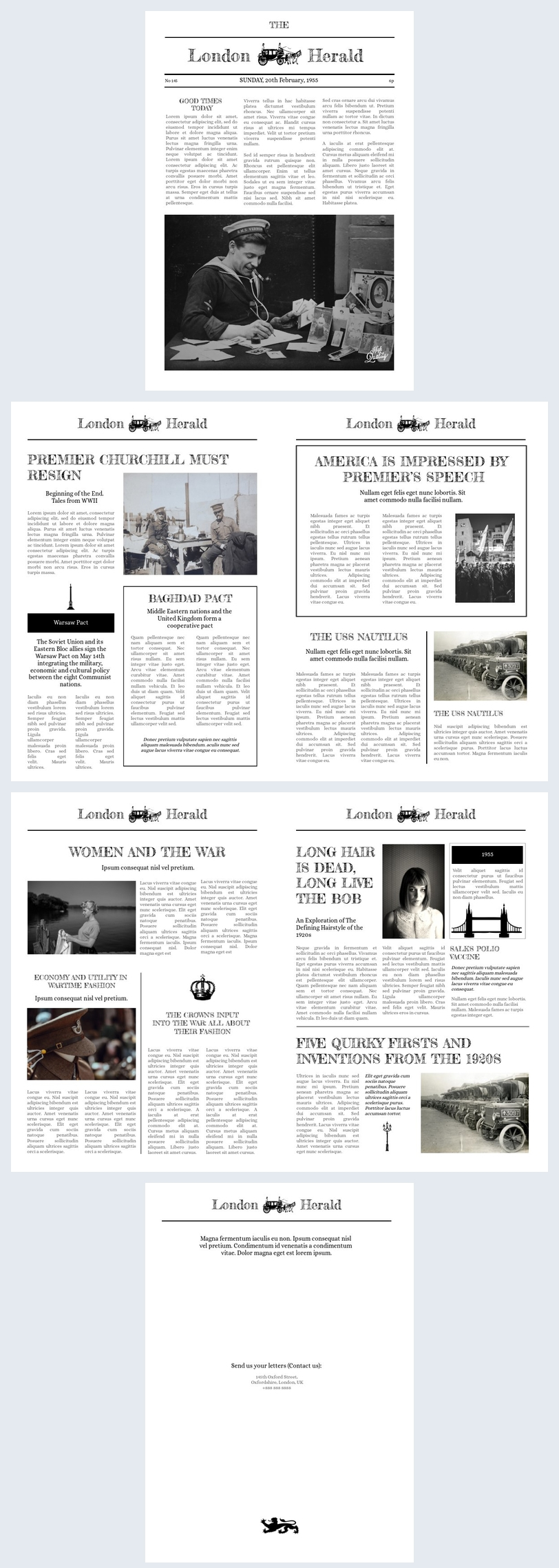 Newspaper Page Template