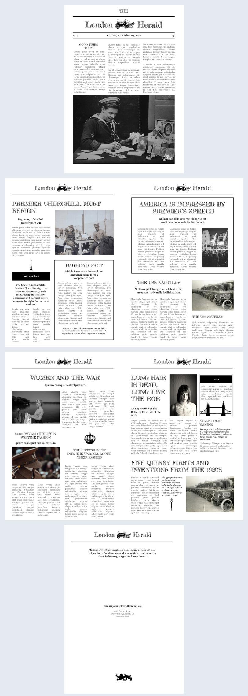 Zeitungsseiten-Vorlage