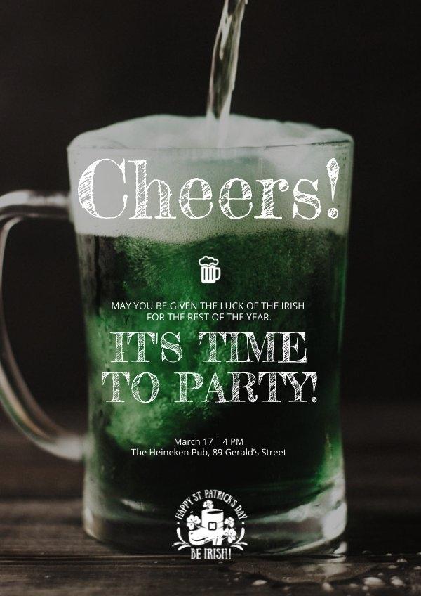 St Patrick's Day Party Flyer