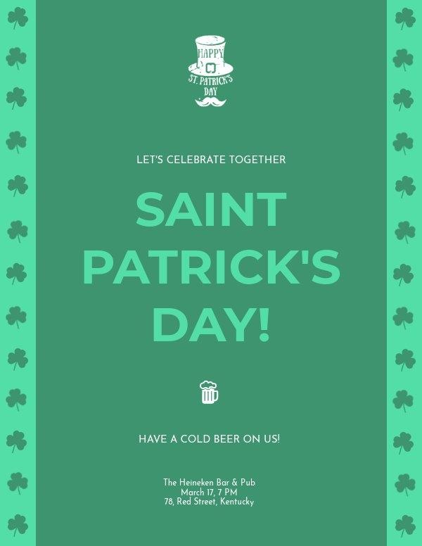 St Patricks Day Flyer Sjabloon