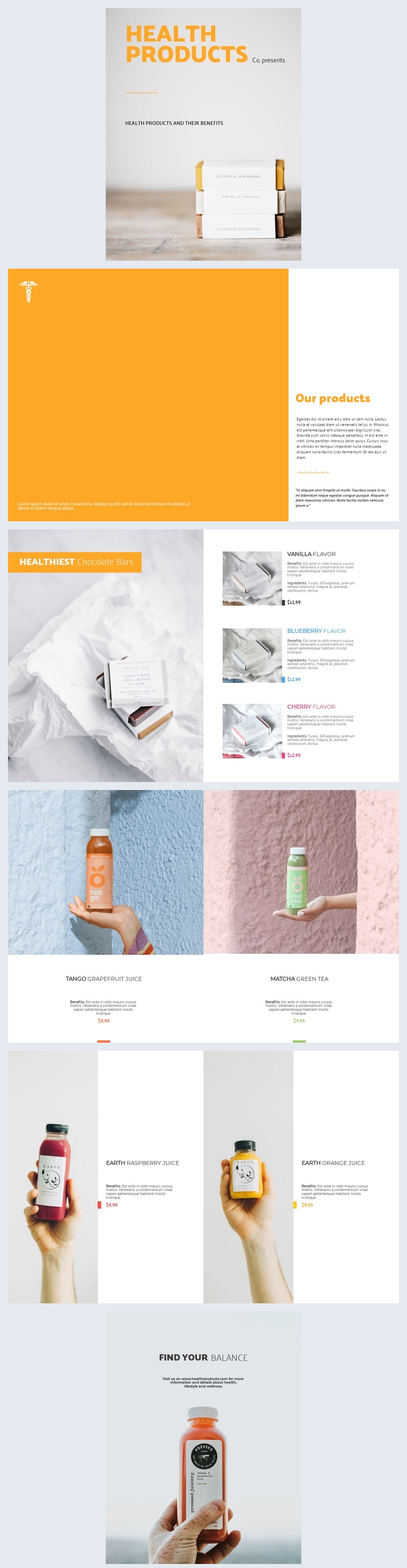 Health Products Catalog Template