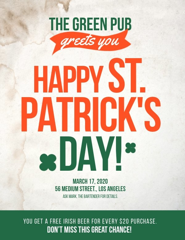 St Patrick's Day Poster Template