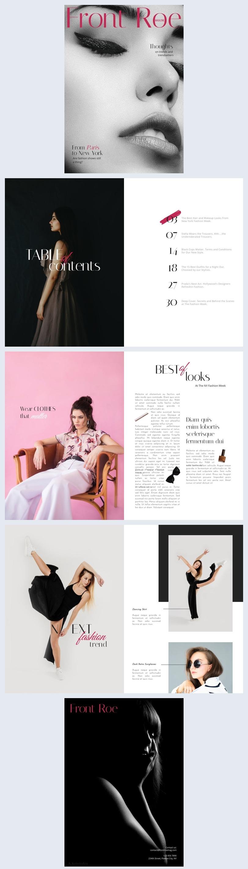 Layout de Revista de Moda