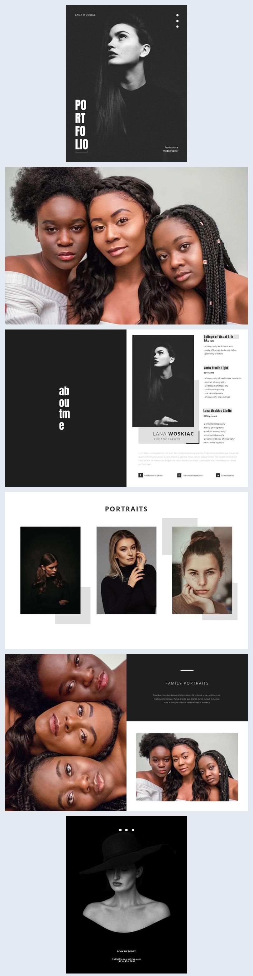 Digital Photography Portfolio Template