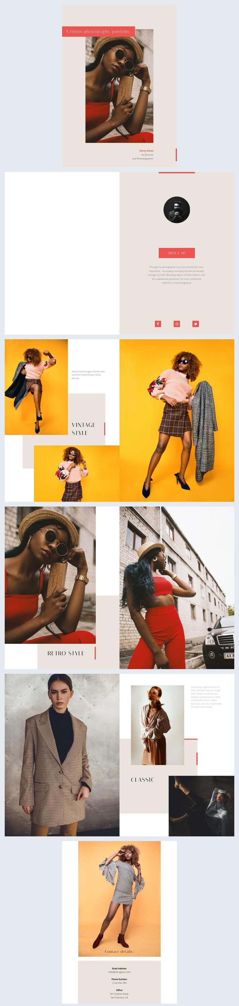 Modefotografie-Portfolio