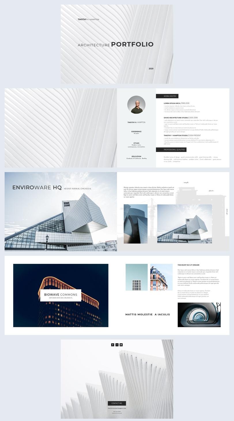 Layout de Portfólio de Arquitetura
