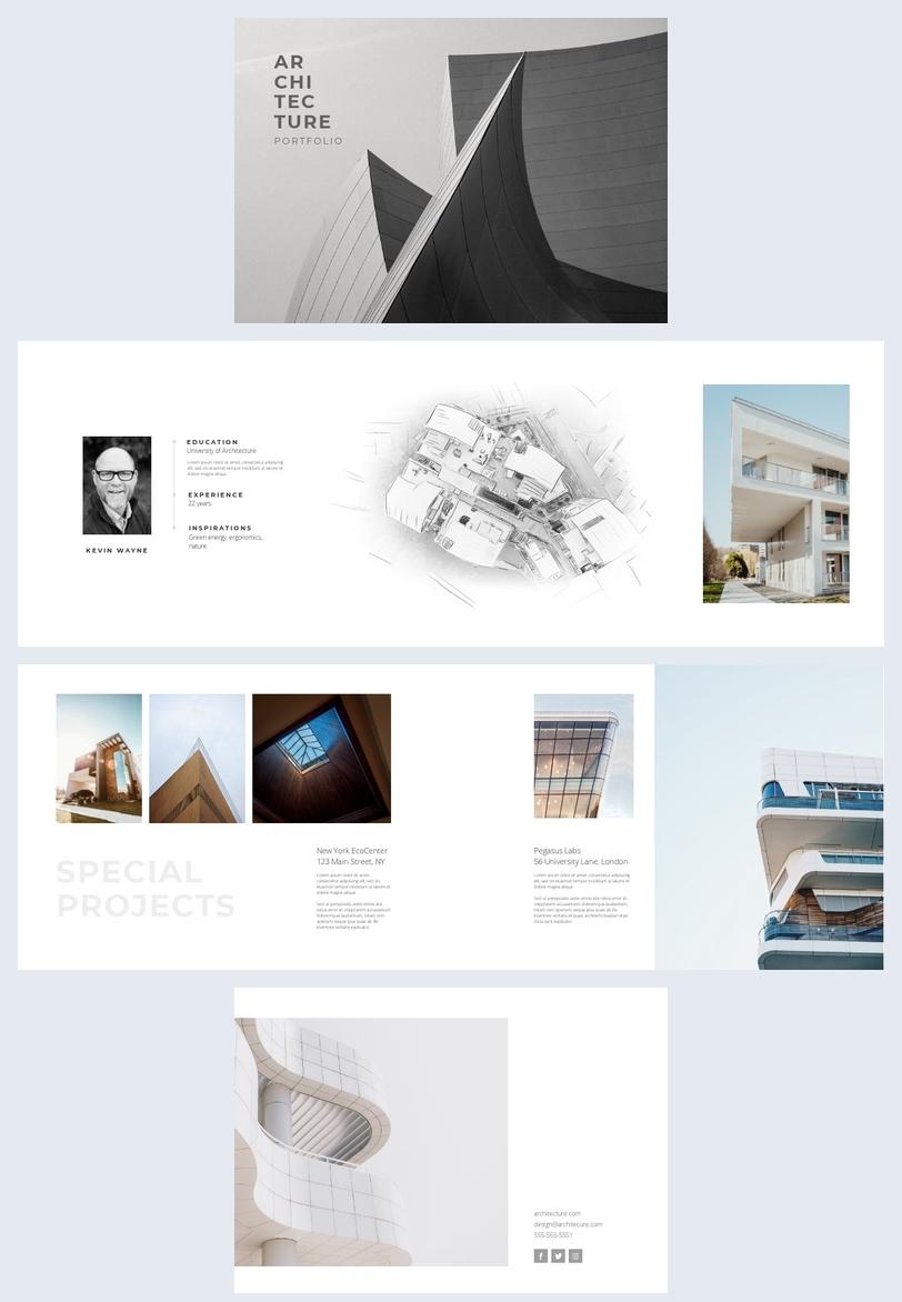 Einfaches Architektur-Portfolio