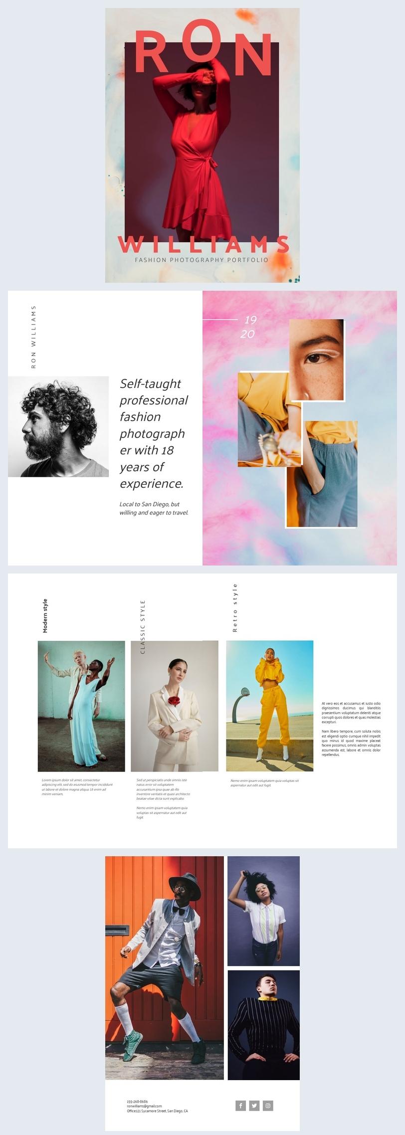 Fashion Photography Portfolio Template
