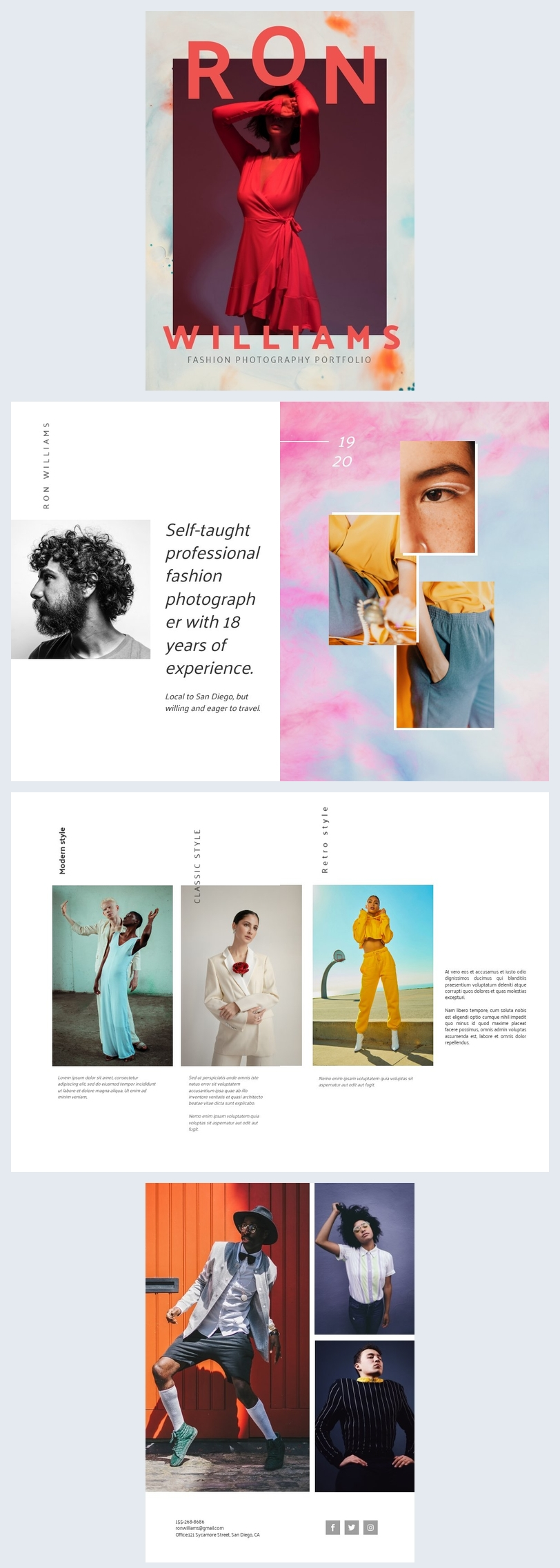 Modefotografie-Portfolio-Vorlage