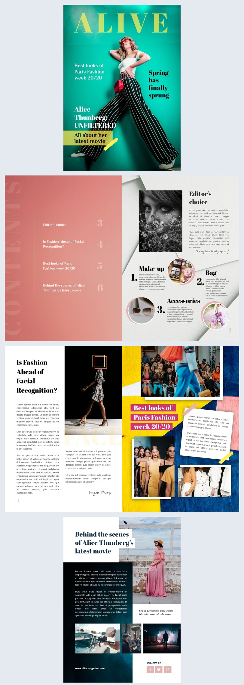 Modetijdschrift Lay-out