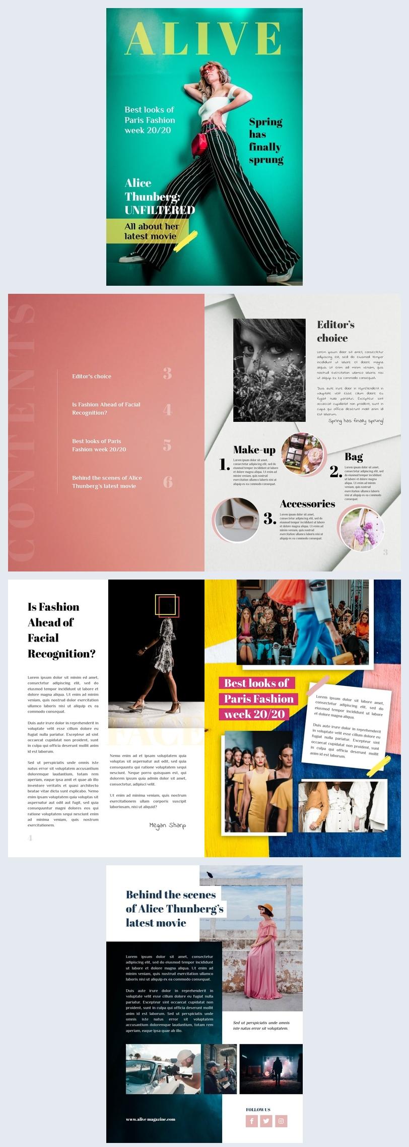 Diseño para revista de modas