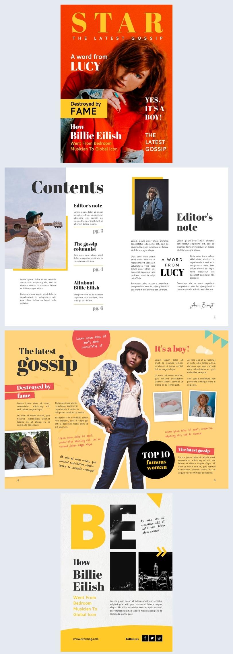 Modello per rivista di gossip