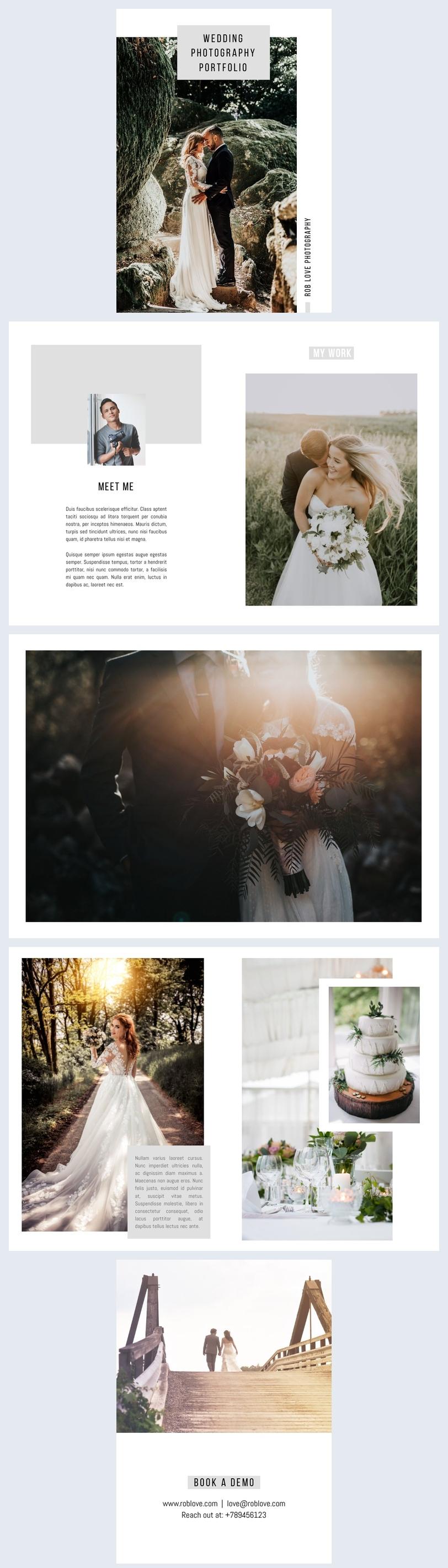 Diseño para portafolio fotográfico de bodas