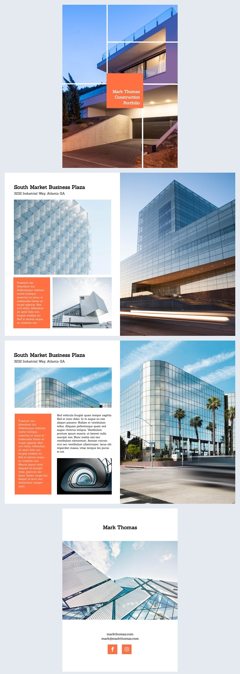 construction portfolio design