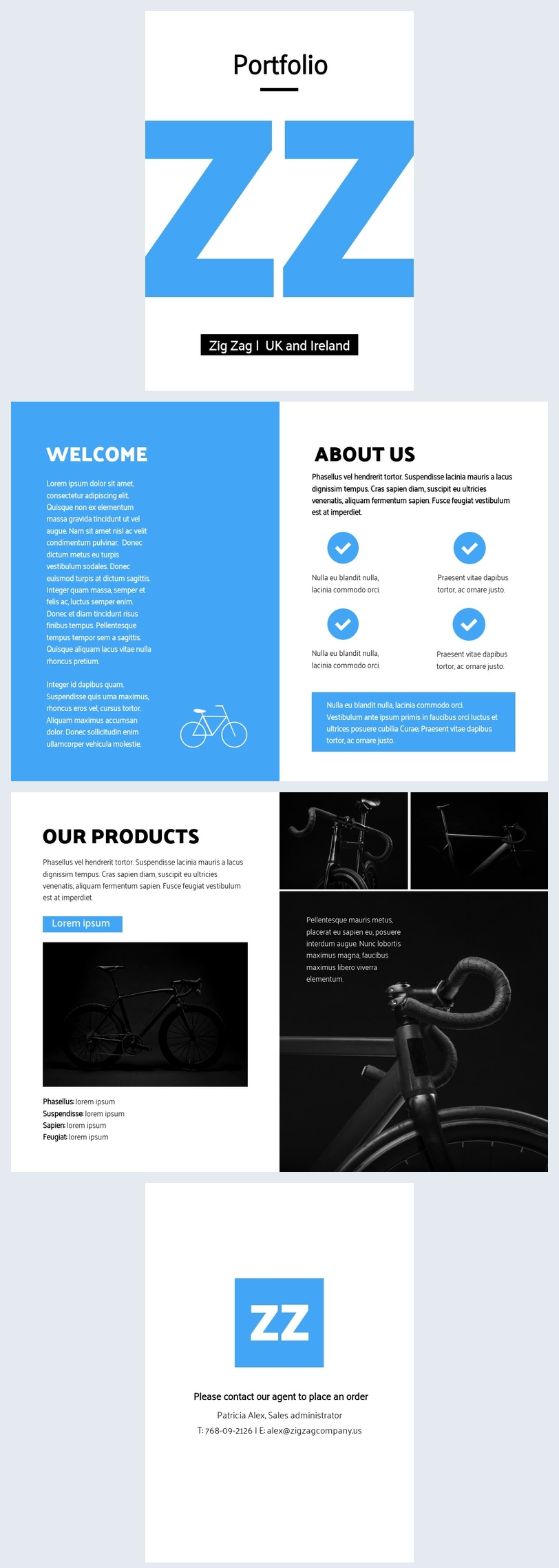 company portfolio layout design