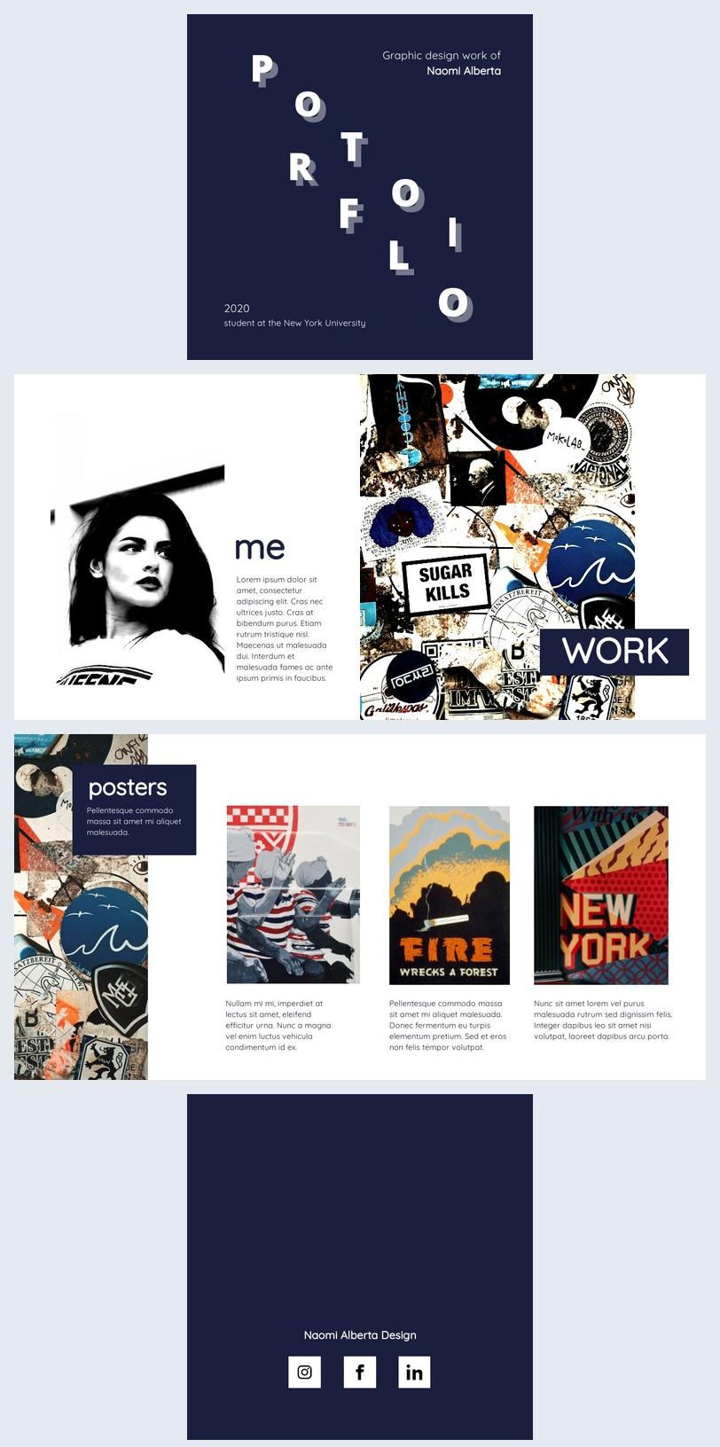 creative portfolio layout