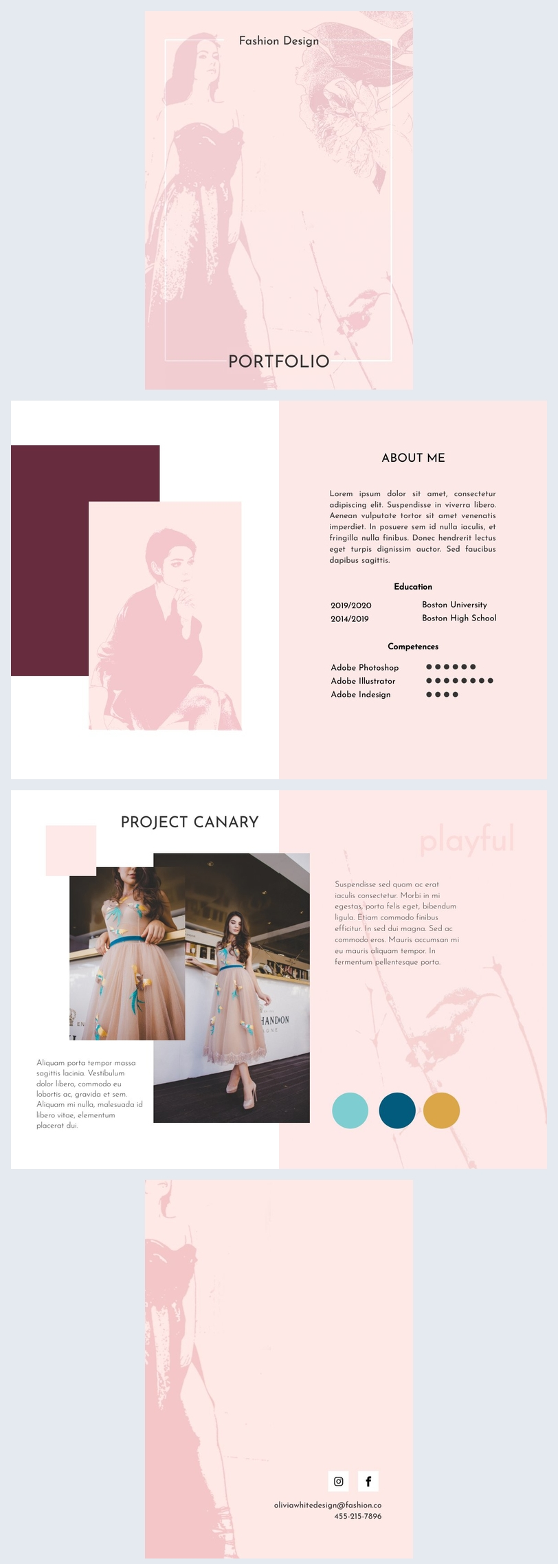 Portfolio Template For Fashion Design Student Flipsnack