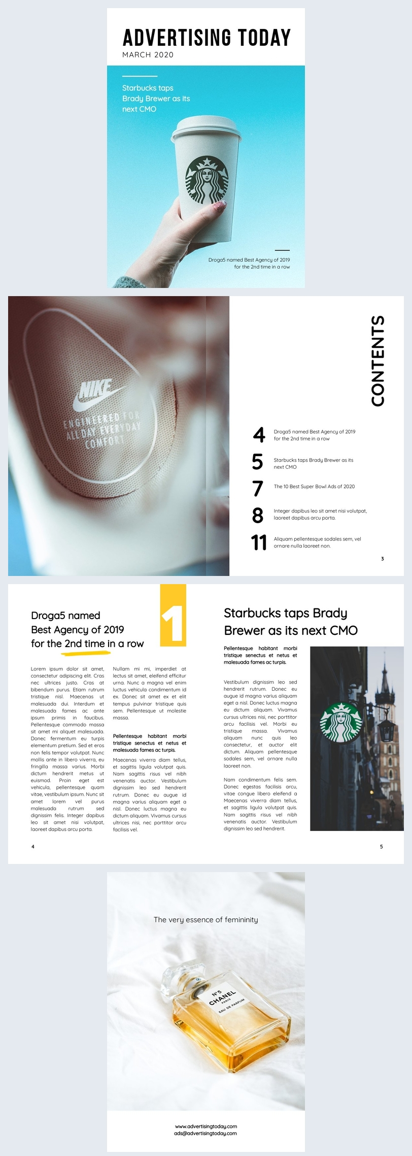 advertising magazine layout template