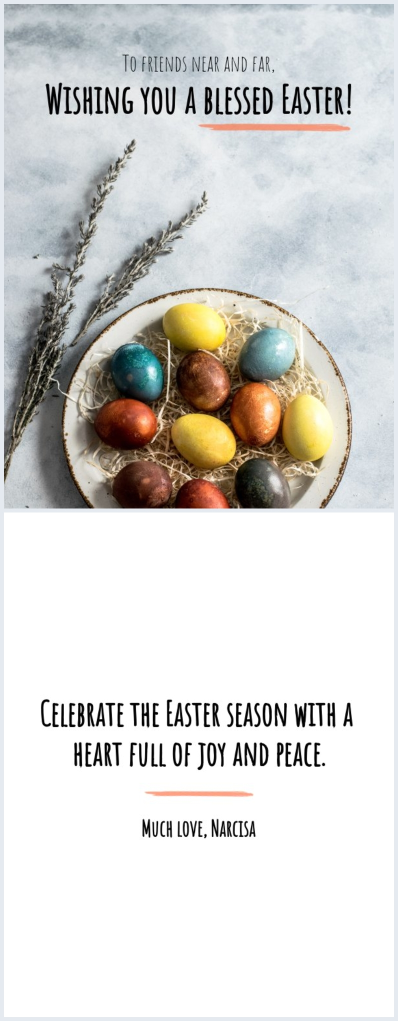 Simple Easter card design