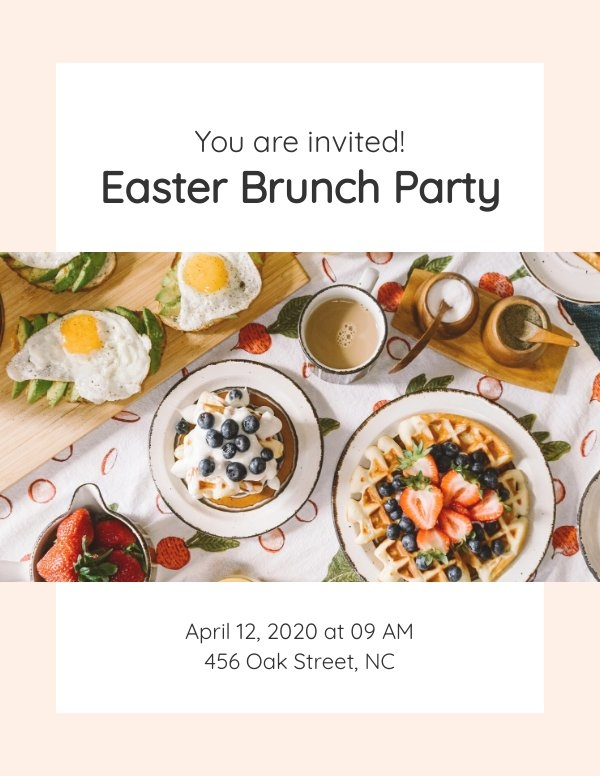 Easter Brunch Invitation Template