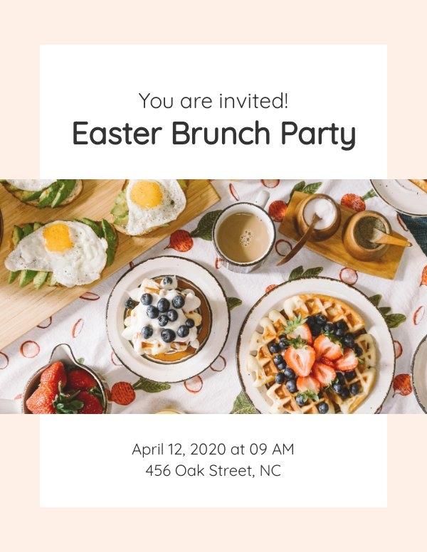 Plantilla para invitación de almuerzo de Pascua