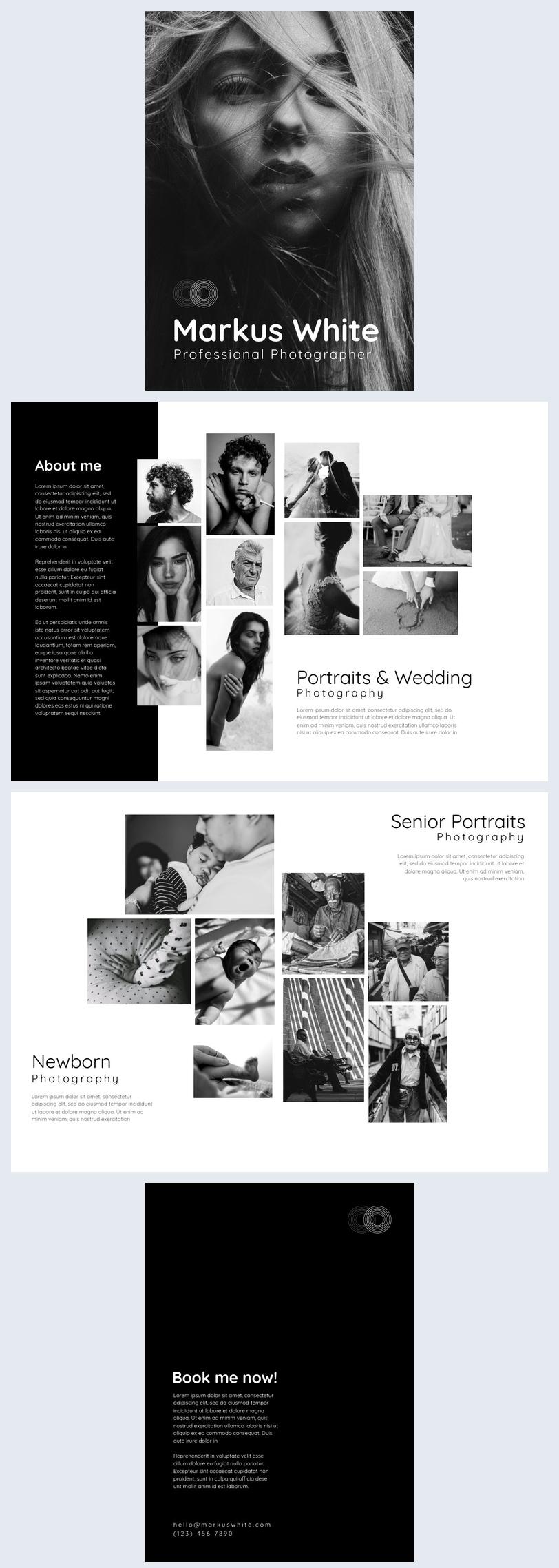 Black and White Photo Portfolio Template