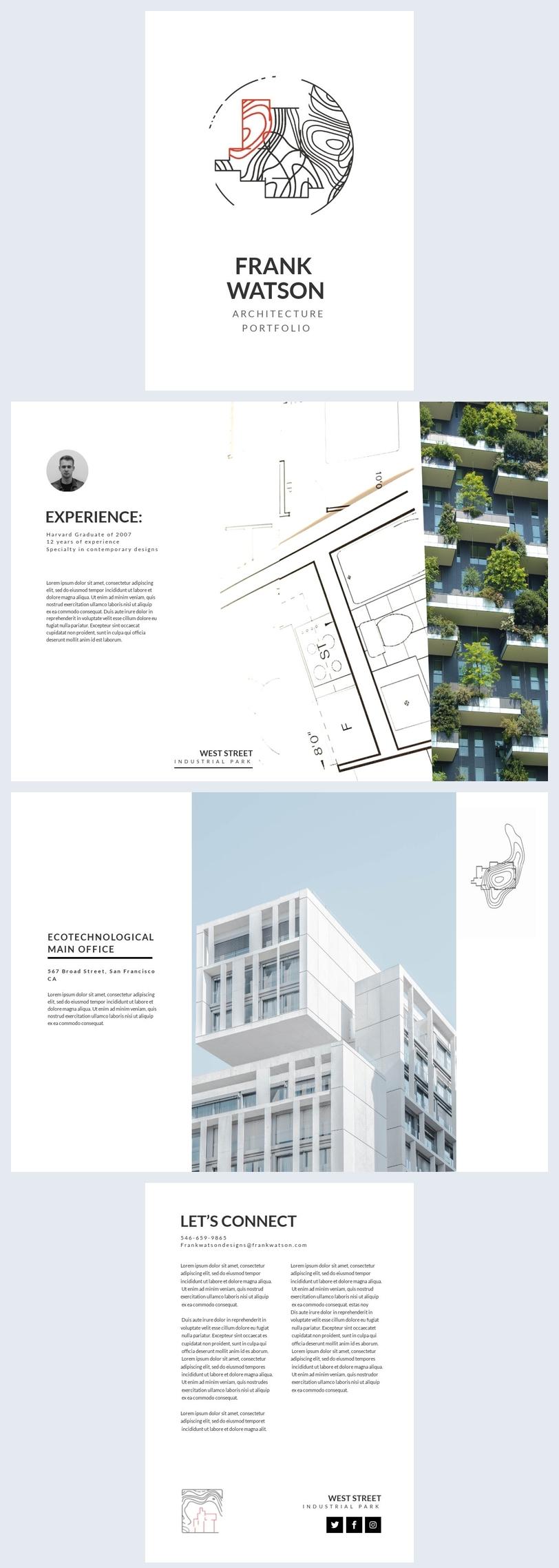Architektur portfolio layout design