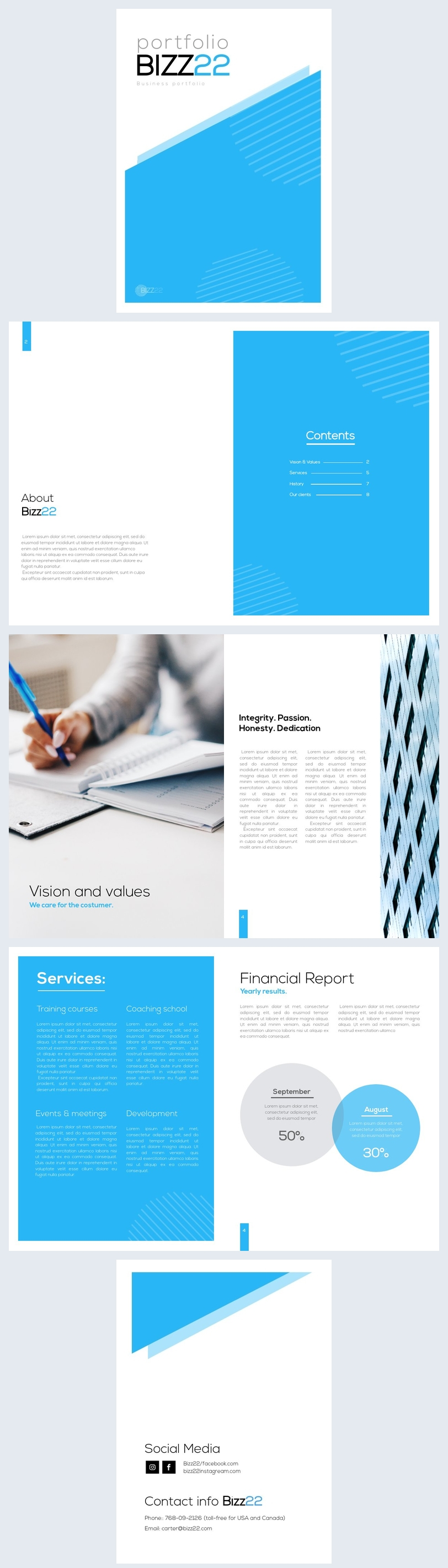 Business portfolio design sample