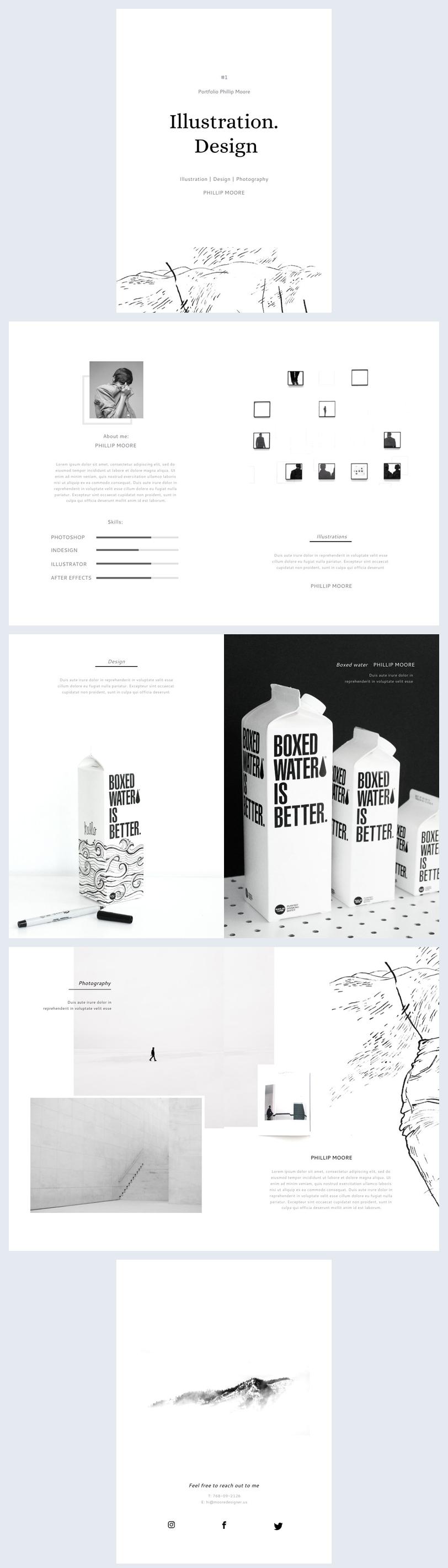 layout creative design portfolio example