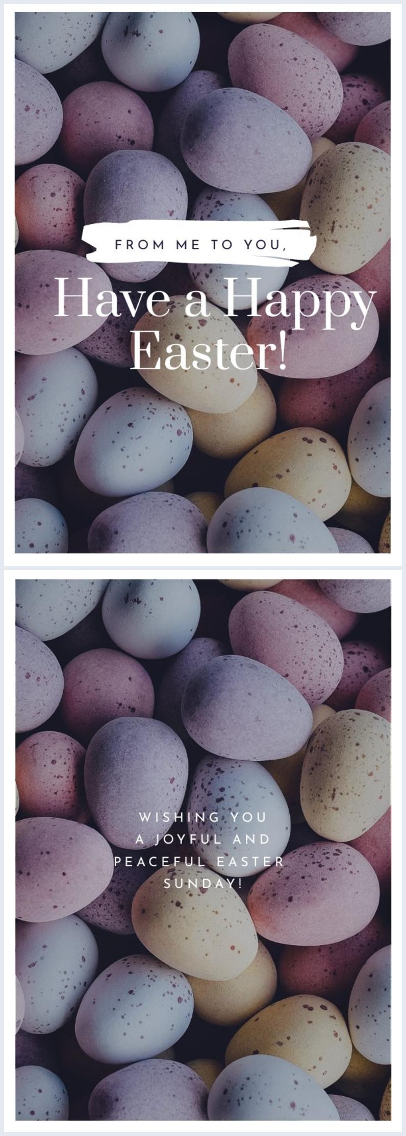 Easter Egg Card Template